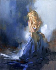 SOLD-Richard-Johnson-Artist-Original-Christina-in-Blue-24-x-30.jpg (614×768)