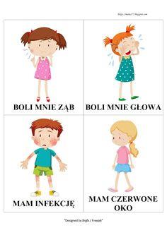 BLOG EDUKACYJNY DLA DZIECI Learn Polish, Polish Language, Crafts For Kids, Education, Learning, School, Health, Drawings, Speech Language Therapy