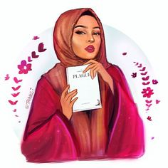 Dear I'd just like to say that you are amazingly talented yet humble enough to support others in the artistic field! Congratulations on the publication of your book ! May you have many successful ventures in the future! Black Girl Art, Black Women Art, Art Girl, Hijabi Girl, Girl Hijab, Muslim Girls, Muslim Women, Fashion Tips For Women, Trendy Fashion