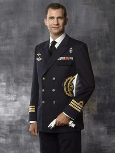 May 5, 2010 - Meet Spain's new King | Prince Felipe of Spain poses dressed in Frigate Captain uniform during an official portrait session in Madrid, Spain. 76-yr-old King Juan Carlos will abdicate & pave the way for his son, Crown Prince Felipe, to take over | CREDIT: Dany Virgili/Spanish Royal Household/Getty Images