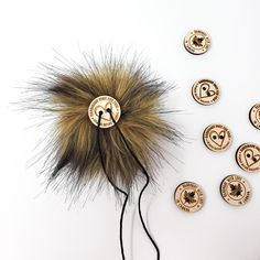 Brown Faux Fur Pom Poms – Warehouse 2020 More Code, Faux Fur Pom Pom, Medium Brown, Black Nylons, Pom Poms, Warehouse, How To Make, Color, Colour
