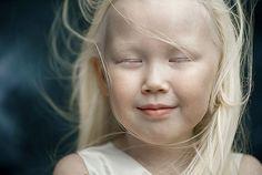 8-year-old Yakut albino indigenous   girl Nariyana from Siberia