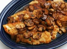 An easy but elegant Chicken Marsala with mushrooms dinner.