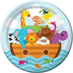 Noah's Ark Themed Baby Shower; Noah's Ark Birthday Party; Vacation Bible School Tableware; Unisex Baby shower; Gender Reveal Baby Shower by SimplyCreatedForYou6 on Etsy