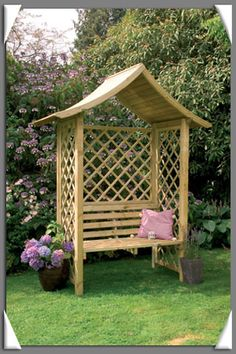 oxford pergola mit bank aus holz gartensitz 2 henrik. Black Bedroom Furniture Sets. Home Design Ideas