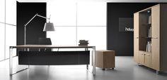 Dhow - Ora Acciaio木製デスク、デザイナー Lucci & Orlandini
