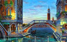 """""""Evening in Venezia""""  Artist: Robert Finale"""