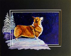 Corgi Art by Lyn Hamer Cook