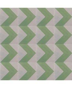 Chevron Green Encaustic Cement Tile by TERRAZZO-TILES http://www.terrazzo-tiles.co.uk/chevron-green-encaustic-cement-tile.html