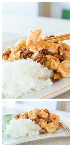 This Honey Walnut Shrimp is easy to make, and so much better than takeout! Shrimp are coated in a puffy egg white cornstarch batter and fried until golden, then tossed in a creamy sweet sauce and caramelized honey walnuts. from @fifteenspatulas