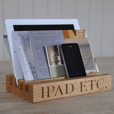 oak stand for ipad by the oak & rope company | notonthehighstreet.com