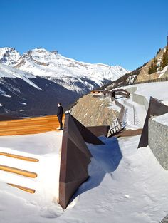 This cantilevered viewing platform provides spectacular views of the Canadian Rockies