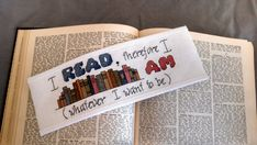 Pattern Cross Stitch Bookmark I Read Therefore by PictureThisCC