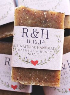 Treat your guests to a bar of our handmade oatmeal and honey goat milk soap, made with all natural ingredients and pure essential oil blend of orange + cinnamon. You Will Receive: ---> All natural Oat