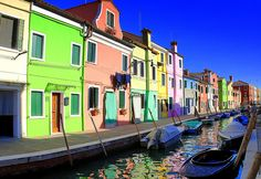 Murano-Burano is an island of Venice in Italy, famous for its lace and coloured houses.