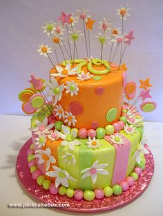Birthday Cake Ideas For Women | 70th Birthday Whimsical Cake » Birthday Cakes