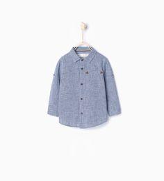 Zdjęcie 1 Koszula z nadrukiem w pepitkę z Zara
