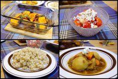 晩御飯はバターナッツカボチャのローストトマトとひよこ豆のタマネギドレッシングのサラダ玄米ごはんバルサミコ風味のシチュー #meallog #food #foodporn #cooking #tw