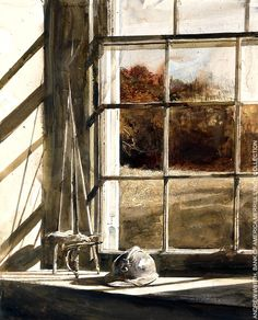 #Oil #Painting - Crossed Swords by Andrew Wyeth