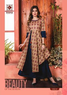 Shop Kiana Crown Long Kurtis Online with the best price.Flaunt with these Indian Dresses to Give yourself the stylish look for Casual Occasions to Parties. Indian Gowns Dresses, Pakistani Dresses, Girls Dresses, Kurti Designs Party Wear, Lehenga Designs, Long Kurtis Online, Muslim Gown, Girl Dress Patterns, Sewing Patterns