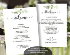 Gold Wedding Information Template Gold By Stationeryconcierge