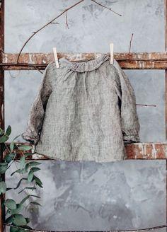 Little Girls Handmade Linen Blouse | Lapetitealice on Etsy