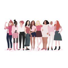 Group of strong women vector Photos Hd, Style Masculin, People Illustration, Forest Illustration, Family Illustration, Watercolor Illustration, Feminist Art, Intersectional Feminism, Before Us