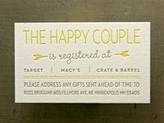 Registry business cards are a great idea.  They don't cost a lot to print, don't increase the postage of your wedding suite and are easy for guests to keep in their wallets as a reminder.