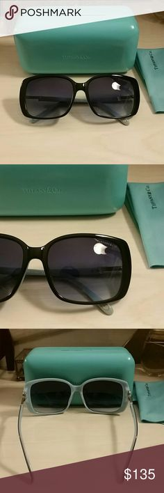 ☆ For @lovedesignerz ☆ Tiffany Sunglasses Tiffany & Co. Sunglasses. Excellent condition , only worn a few times.  No scratches.  Diamond key sides with trademark. Dark black to blue gradient lense.  Comes with case/cloth.  *No trades, thank you.* *Please use the offer button to make offer/discuss pricing* Tiffany & Co. Accessories Sunglasses