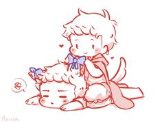 chibi cute Fanart castiel destiel DEANCAS dean Marcia little red ...
