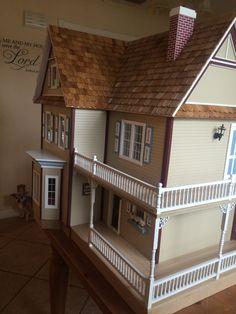 Victoria 39 s farmhouse floor plan idea dollhouse pinterest more best farmhouse floor plans for Dolls house exterior decoration