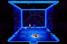 The Curious Incident of the Dog in the Night-Time from the National Theatre. Blues at night