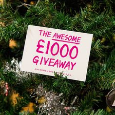 Awesome Merch are giving away £1000 to spend on their site via their Christmas contest!
