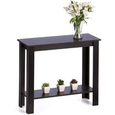 Black Hallway Table | Kmart (€27) ❤ liked on Polyvore featuring home, furniture, tables, accent tables, black hall table, ebony table, black occasional tables, onyx furniture and onyx table