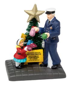Loving this Christmas in the City 'Mitten Drive' Figurine on #zulily! #zulilyfinds