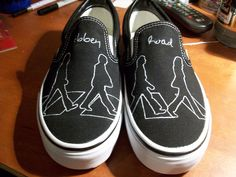 Meghan Abbey Road Vans by artsy283 on Etsy, $100.00