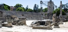 Roman ampitheater in Arles, France. http://skabrat.com/2014/08/van-goghs-ear-arles/