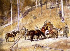 Tom Roberts..Bailed Up..Beautiful salmon colours when viewed in real life.....Art Gallery of NSW