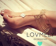 If I decide to have a beach wedding. anklet gold foot chain toe ring barefoot sandal