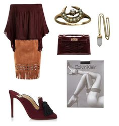 """""""Weekend Dress Down"""" by jamesj0618 on Polyvore featuring Hermès, Jimmy Choo, Sans Souci, Calvin Klein and Lacey Ryan"""