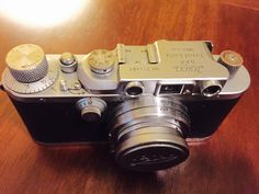 Vintage Leica IIIa body, 1938. Vintage Ernst Leitz Wetzlar Collapsible Chrome Summar f=5cm 1:2 Lens, 1938. Similar or same type of Leica owned by my grandfather Charlie.