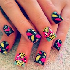 Cute nails for teens and girls in there 20s it's a great look for summer if you want to try something different