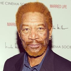 Pin for Later: All Your Favourite Stars Just Transformed Into Freckled Redheads Morgan Freeman