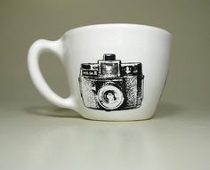 12oz cup holga white  Made to Order/Pick Your by CircaCeramics, $32.00