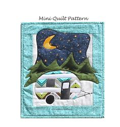 Vintage Camper Wall Hanging Pattern, Little Camper P151, Patch Abilities, Mini Quilt Pattern, Travel Trailer Quilt Pattern, Camping Pattern