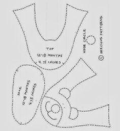 Pantuflas para niños -Moldes para imprimir