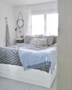 ~ Well hello there bed! Good night, sleep thight and dream sweet dear instas * Btw! Welcome all new followers, happy to have you here!  * * #nathaliesosummerhouse #bedroom #goodnight #bedroomdecor #summerhouse #stuga #mökki #scandinaviandesign #mynordicroom #whiteinterior #interiorideas #whitehome #cozyhome #cozy #hellobed White Houses, Cozy House, Scandinavian Design, Followers, Comforters, Bedroom Decor, Sleep, Cottage, Blanket