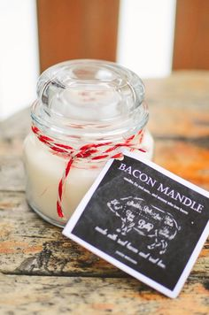 p.s.♡: diy bacon mandles (aka. candles for men)
