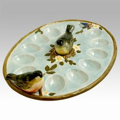 Atop the Table Co. - Nature's Garden Deviled Egg Plate   Salt