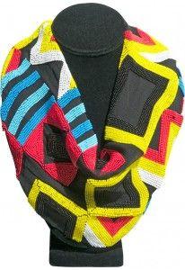Ghana 1 Yellow Bib Necklace from ROARKE New York